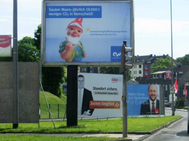 Wo ist der Unterschied zwischen Heinzelmännchenwerbung und Wahlwerbung? - Foto: Michael Mahlke