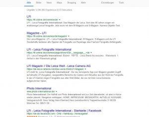 Fotografie international gibt es auch ohne Leica oder wie google sortiert