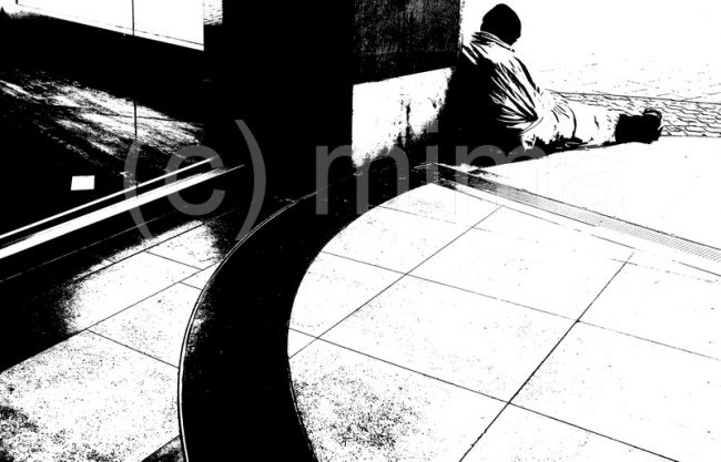 Soziale Fotografie auf monochrome Art