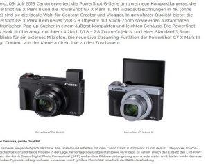 Endlich eine Canon mit Sucher auf der linken Seite – Powershot G5 X Mark 2